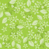 Light green vector floral pattern — ストックベクタ