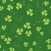 Vector green seamless pattern with trefoils — Stock Vector