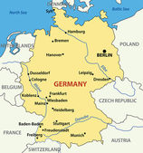 Vector illustration - map of Germany. — Stock Vector
