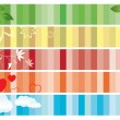 Vector - set of color banners with nature — Stock Vector