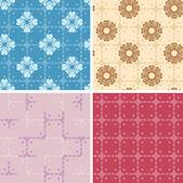 Set - color patrones geométricos sin costuras - eps — Vector de stock