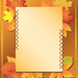 Frame with autumn leaves - vector — Stock Vector #6463437