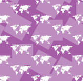 Maps on violet seamless background - vector — Stock Vector