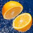 Fresh sweet orange — Stock Photo