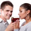 Royalty-Free Stock Photo: Drinking tea man and woman