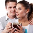 Drinking tea man and woman — Stock Photo #5533974
