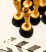 Golden oscars — Stock Photo