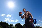Athlete outdoor — Stock Photo