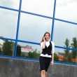 Stock Photo: Businesswoman with cellphone