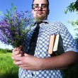 Stock Photo: Nerd outdoor