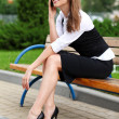 Businesswoman with cellphone - Foto de Stock