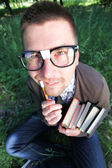 Genius nerd — Stock Photo
