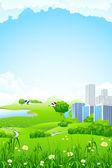 Grüne Landschaft — Stockvektor