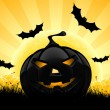 Halloween background with pumpkin — Stock vektor