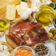 Mediterranean food ingredients - Foto Stock