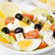 Eggs and cheese salad — Stockfoto