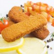Breaded fish sticks — Stock Photo