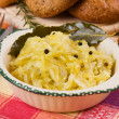 Cooked sauerkraut, traditional german meal - Stock Photo