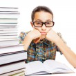 Young student daydreaming — Stock Photo