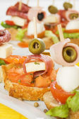 Italian bruschetta canape — Stock Photo