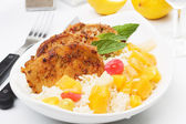Carribean style pork loin chops — Stock Photo
