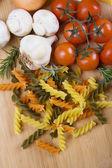 Italienska tricolore pasta — Stockfoto