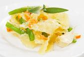 Italian vegetarian pasta — Stock Photo