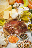 Mediterranean food ingredients — Stock Photo