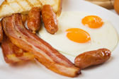English breakfast food — Stock Photo