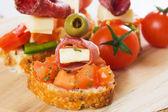 Bruschetta sandwich — Stock Photo