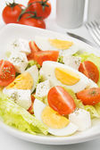 Egg and cheese salad — Stock Photo