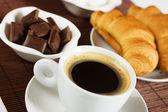 Black espresso coffee — Stock Photo