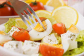 Eggs and cheese salad — Stock Photo