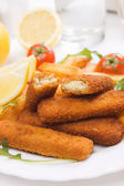 Fried fish sticks — Stock Photo