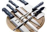 Uppsättning av köksknivar — Stockfoto