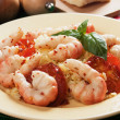 Italian style shrimps with tomato sauce and rice — Stock Photo #6674363