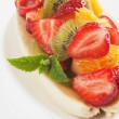 Banana split with fresh fruit — Stock Photo
