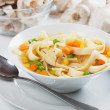 Vegetable soup with noodles — Stock Photo