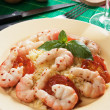 Shrimp with cooked rice — ストック写真