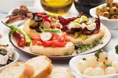 Spanish tapas food — Stock Photo