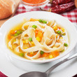 Stock Photo: Vegetable noodle soup