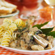 Italian pasta with mushrooms — ストック写真