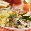 Italipastwith mushrooms — Stock Photo #6681356
