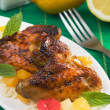 Caribbean style grilled chicken wings — Stockfoto