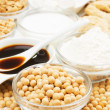 Royalty-Free Stock Photo: Soybean with soy products