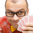 Gambler with playing cards — Stock Photo #6682187