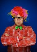 Serious clown — Stock Photo