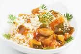 Grönsaker med ris — Stockfoto