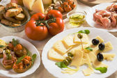 Italian appetizer food — Stock Photo