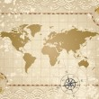 Antique World Map — Stock Vector